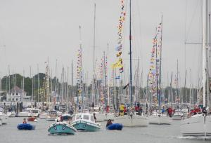 rafyc boats with flags